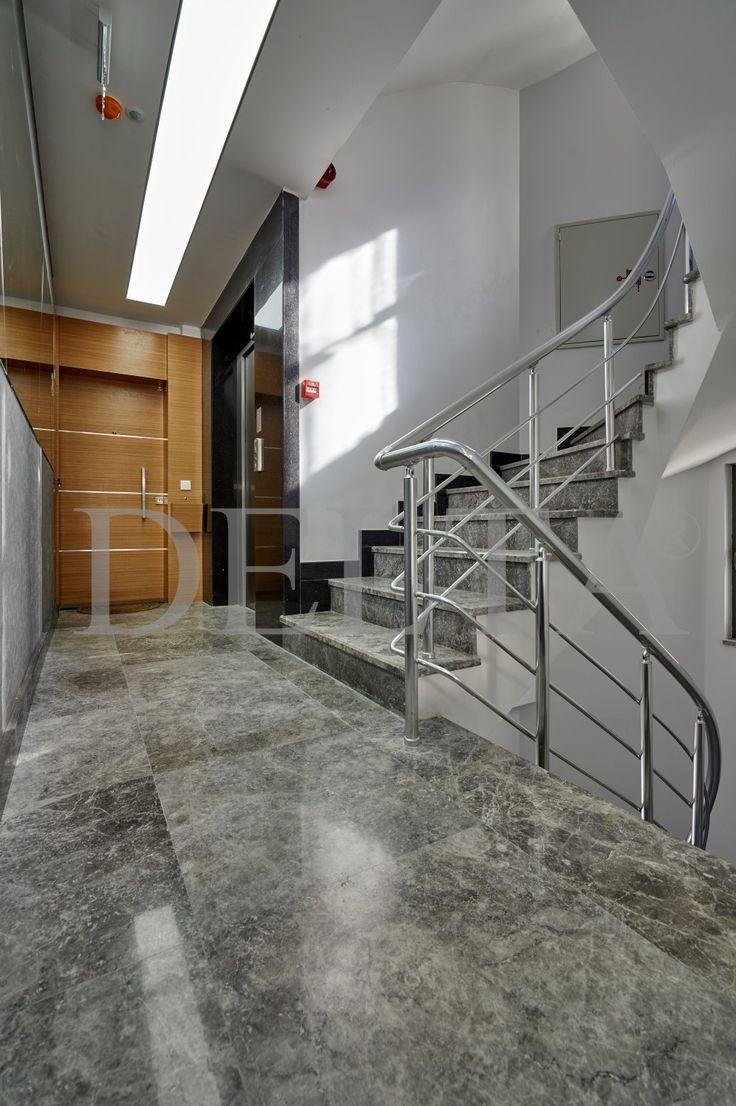 Tundra Dark flooring marble tiles & Staircase