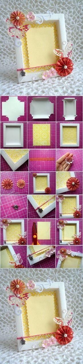 DIY Cute Cardboard Picture Frame | iCreativeIdeas.com Follow Us on Facebook --> https://www.facebook.com/icreativeideas