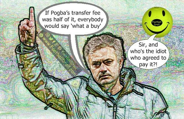 José Mourinho Thinks Pogba's Only Problem is His Record Transfer Fee #Pogba #Mourinho #Conte #ManUnited#Chelsea #CL #EPL #MUNCRY#Ibrahimovic #Mkhitaryan #ManCity#EuropaLeague #Arsenal #Liverpool#Neymar #Messi #Ronaldo#FCBarcelona #Jokes #Comic #Laughter#Laugh #Football #FootballDroll #Funny#CR7 #RealMadrid