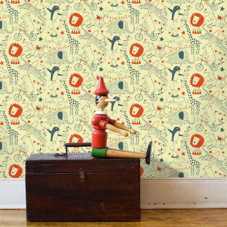 Loboloup Circus Wallpaper | Polka Dot Peacock