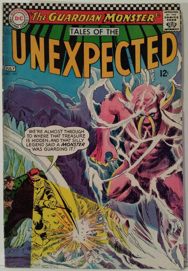 Vintage Comic Book Cover Art / Tales of the Unexpected
