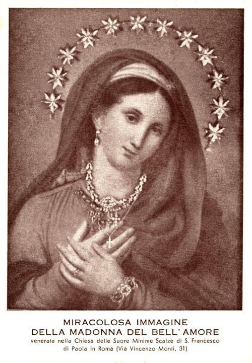 Madonna del Bell'Amore, con braccialetto, anello e collane( Roma)