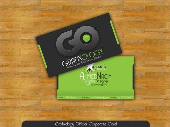 10 best business cards images on pinterest business card design great business card design with black and green color designed for ahmed naghys graphic design company grafixology reheart Image collections