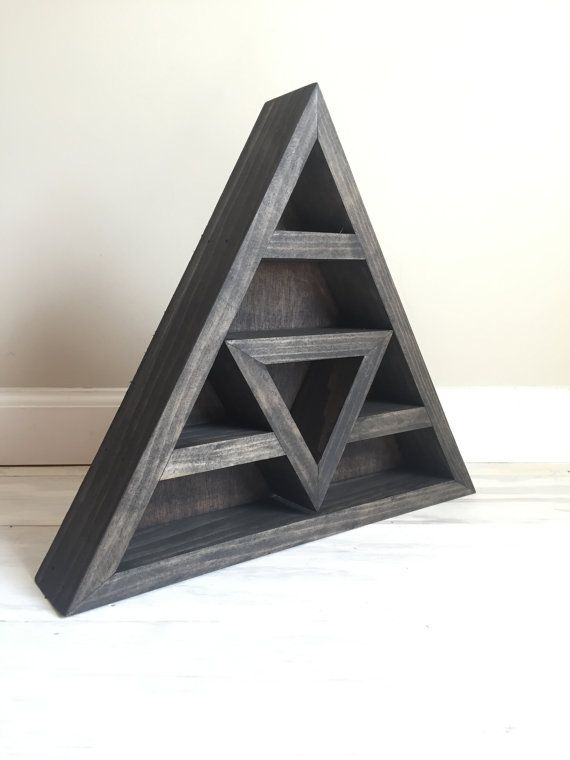 Best 25 triangle shelf ideas on pinterest large crystals buy crystals and crystals store - Triangular bookshelf ...