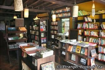 L'Etranger Books and Tea   L'Etranger Books and Tea Close to Nam Khan River, this two-storey wooden book café sells and trades second-hand books. The extensive collection spans many languages and subjects, including travel, art, culture, novels, Southeast Asia, Luang Prabang specific and much more.