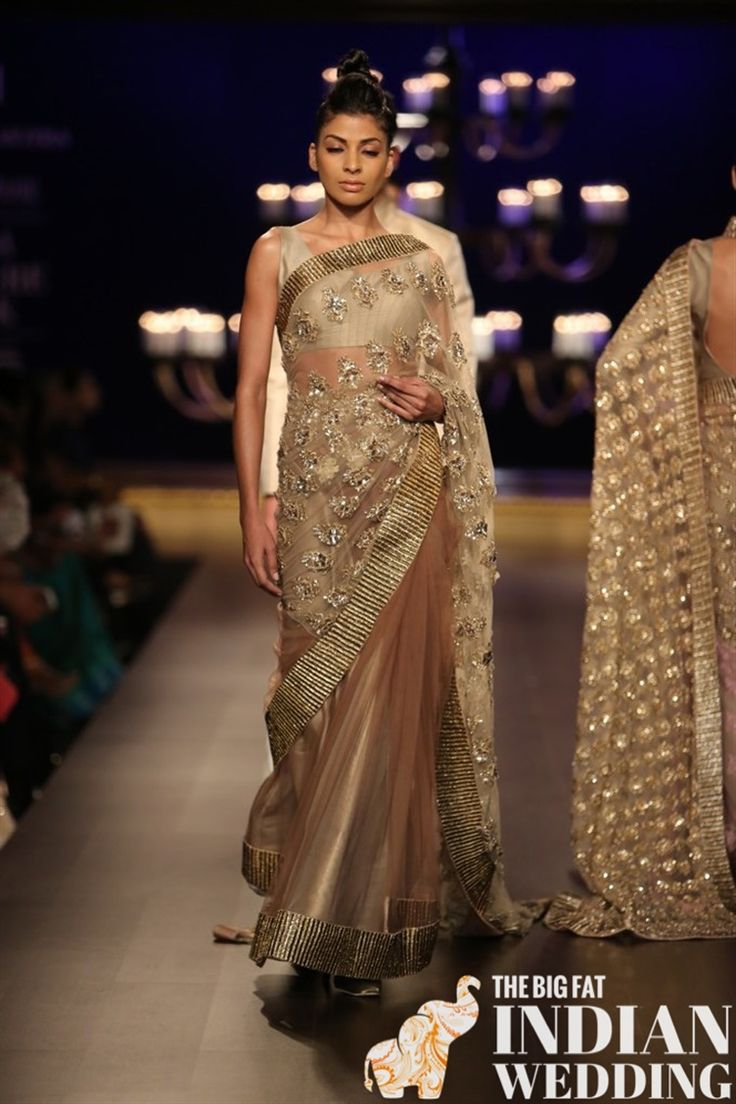 Manish malhotra bridal collection 2014 - Manish Malhotra S Ombre Gold Collection India Couture Week 2014