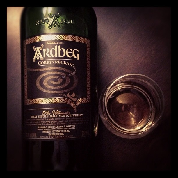 57.1% ABV of seriously intense and flavorful #islay #whisky! #whiskey #ardbeg #corryvreckan