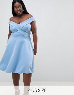 1200c6430656 Club L Plus Bardot Prom Skater Dress | Clothes & Accessories 2 ...