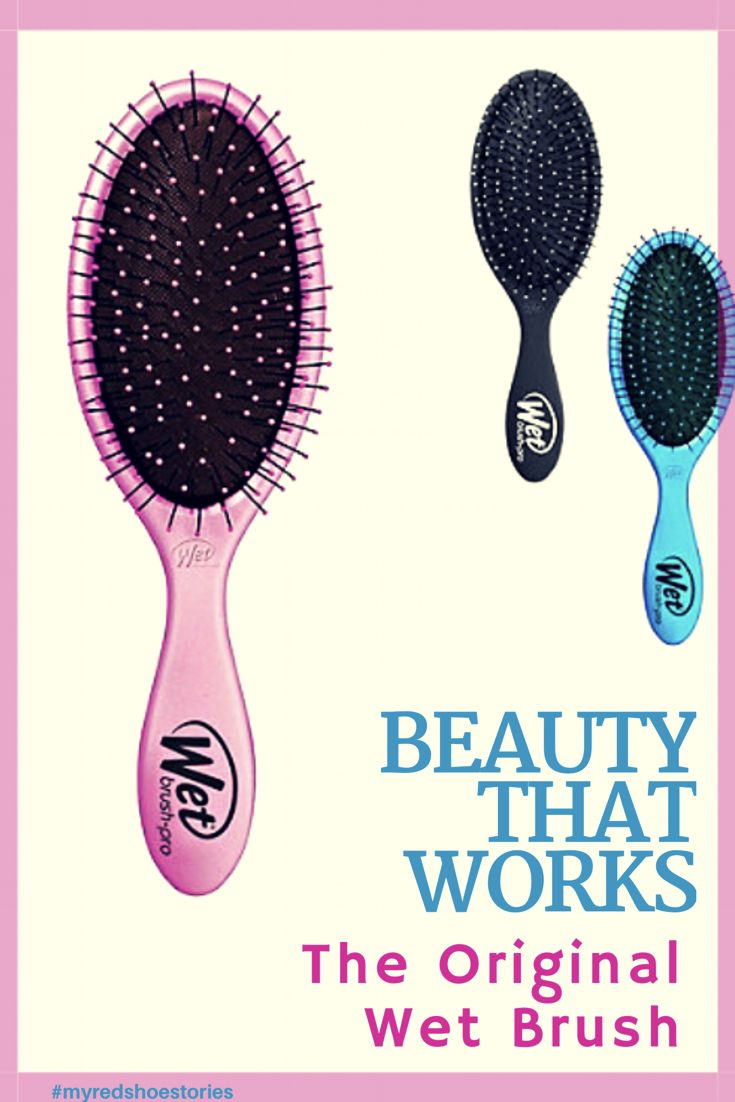 The Wet Brush is the best detangling brush ever! With a traditional oval shape, this brush is perfect for gliding through any hair type and multiple lengths. The Intelliflex™ bristles are strong for getting through tough tangles but flexible to eliminate damage and pain that commonly comes with detangling. SofTips™ bristles give added comfort, massaging and stimulating the scalp for healthy follicles and growth. #affiliate #wetbrush #wetbrushdetangler