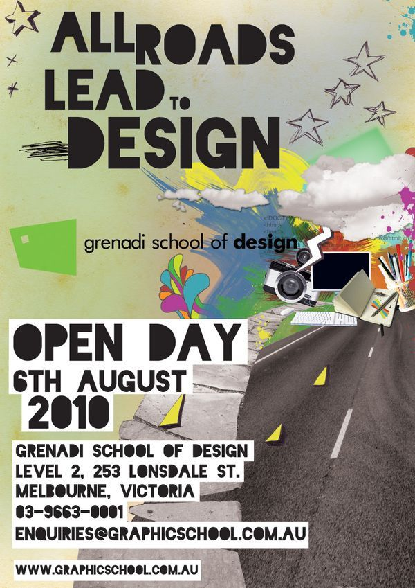 Best Open Day Posters Images On   Design Posters