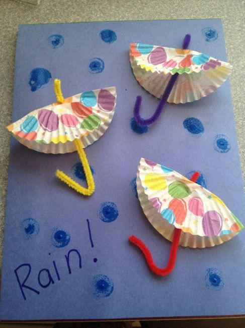 Rainy Day Paper Umbrellas--Distract kids from thunder and lightening with this fun craft.