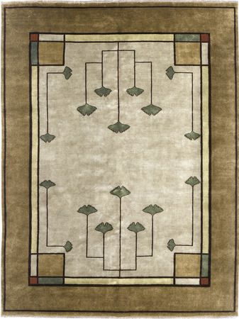 1000 images about the ginkgo leaf on pinterest handmade books the persians and william morris - Frank lloyd wright area rugs ...