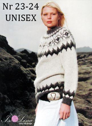 Mönster - UNISEX 23-24 - Isländsk stickad tröja i Álafoss Lopi
