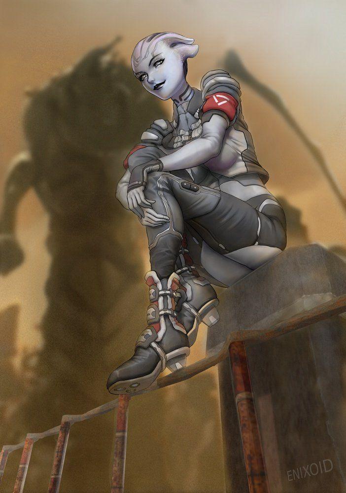 Mass Effect,фэндомы,Asari,ME art