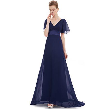 Μάξι απλό βραδινό φόρεμα από μεταξωτό σιφόν. Διαθέσιμο σε διάφορα χρώματα