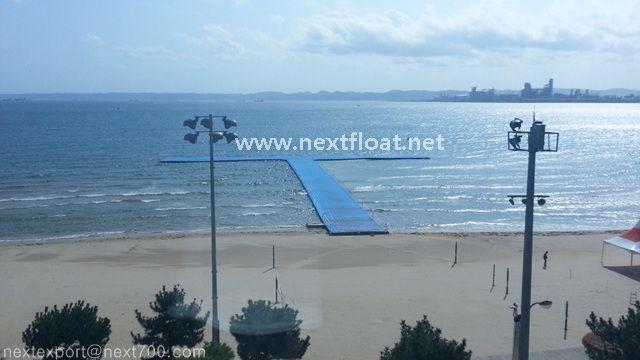 이곳은 포항 영일대해수욕장에 설치된 요트 경기장입니다.  This week, we installed Yacht center located in the beach, Pohang.