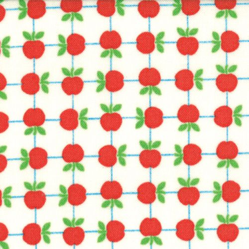 De Stoffige Juffrouw - hippe & retro stoffen, patronen en fournituren online - Tim and Beck - Apple Jack - Ivory Apples