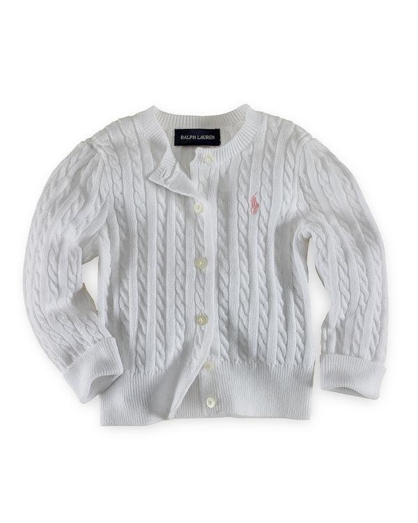 Ralph Lauren Childrenswear Girls' Cable Cardigan Sweater - Little Kid