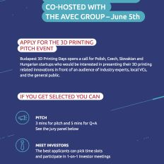 Apply now: Budapest 3D Printing Days Pitch event http://bit.ly/1qYI8jG