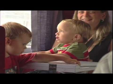 Barb & Ernie's Film production: Barb & Ernie's: Grandsons Julian & Tyee on train. ...