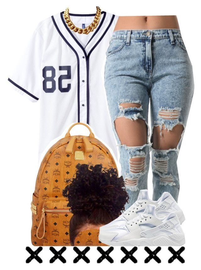 """""""06.07.15"""" by trinityannetrinity ❤ liked on Polyvore featuring MCM and NIKE"""
