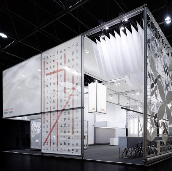 Exhibition Booth Materials : Glass facade graphics at burkhardt leitner exhibition