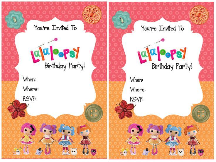 FREE PRINTABLE: Lalaloopsy Party Invitations