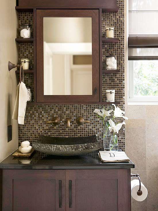 Lenceria De Baño De Buho:Half Bathroom Vanity Ideas