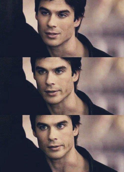 Ian Somerhalder  Lol. I imagine at the top he started flirting and as time goes on he realizes how dumb she is. Haha.