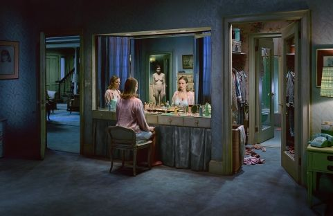 #GregoryCrewdson works within a photographic tradition that combines the documentary style of William Eggleston and Walker Evans with the dream-like vision of filmmakers such as Stephen Spielberg and David Lynch. Crewdson's method is equally filmic, building elaborate sets to take pictures of extraordinary detail and narrative portent.