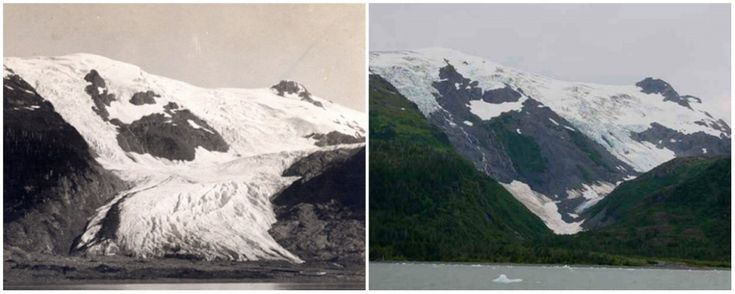 Toboggan Glacier, Alaska. June, 1909 — September, 2000