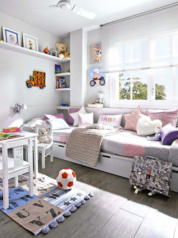 Girls Room Design I Can See My Girls Sitting On The Bed Playing Board Games  Or Doing Pedicures.love The Way The Bed Can Double As Couch Or Seating Area  For ...