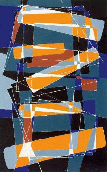 "Hafsteinn Austmann ""Composition"", 1958 (Iceland, Abstract Art, 20th cent.)"