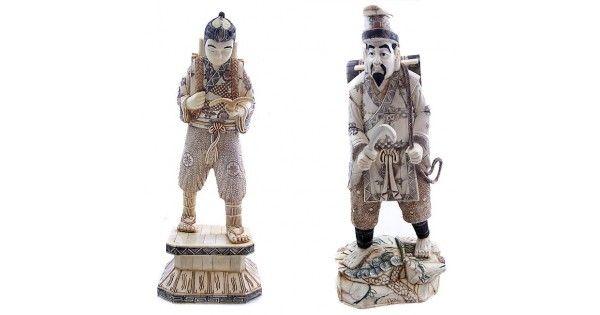 "Impresionant ansamblu statuar neo-confucianist "" Da Xue "" - China cca. 1930"