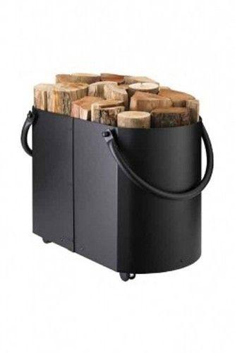 Euroheat AC504 Black Log Holder