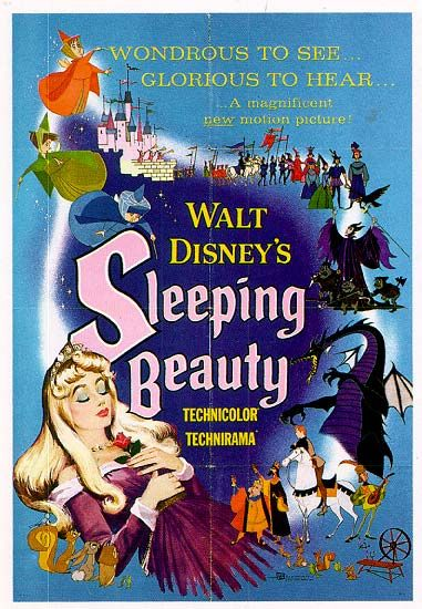 Favorite Disney movie.  I use to tell my parents her name was Princess Laura not Princess Aurora.  LOL.  (Vintage Disney's Sleeping Beauty Poster)