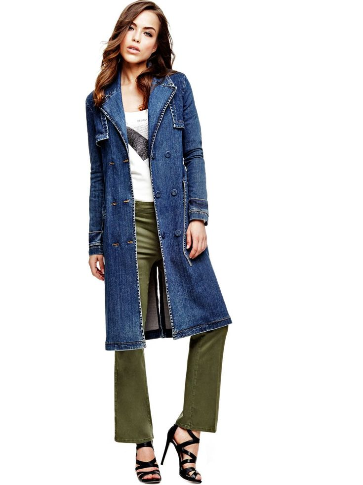 TRENCH EN JEAN Guess pas cher prix Trench Femme Guess 169.90 €