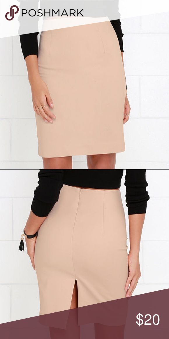 LuLu's Beige Pencil Skirt Used, but in good condition. Gently worn Lulu's Skirts Pencil