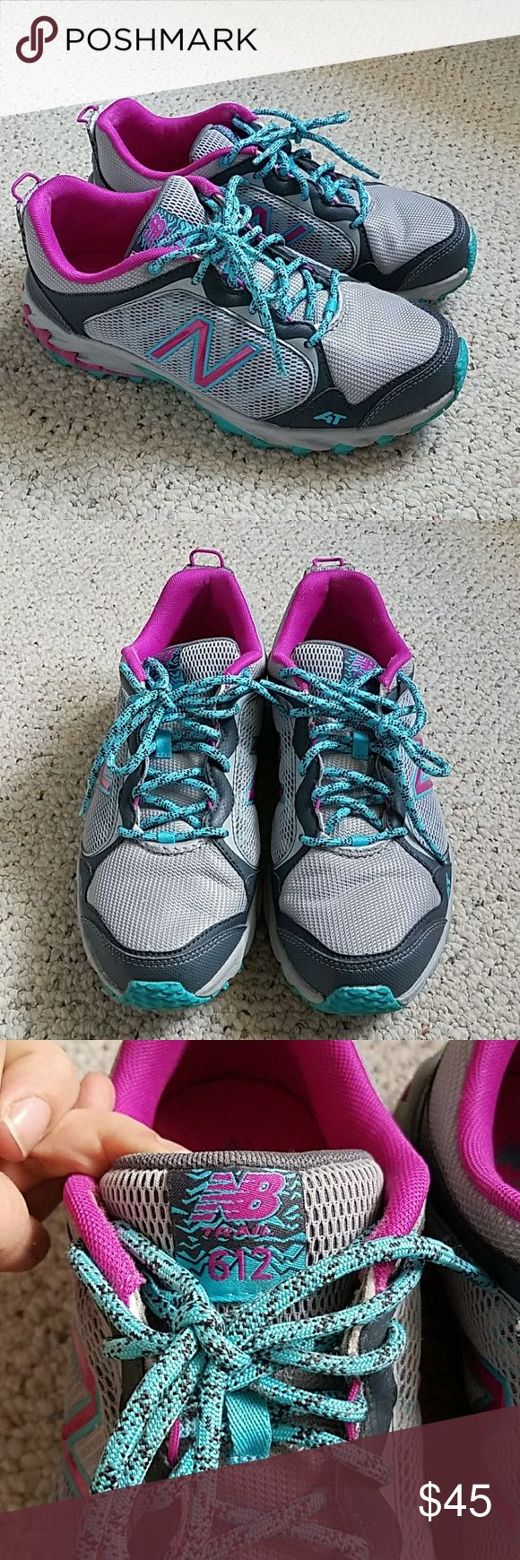 New Balance all terrain sneakers size 8.5 In great used condition all terrain sneakers marked Trail 612 by New Balance. Size 8.5.  Some wear to the bottom, see pictures. Great sturdy and comfortable shoes! New Balance Shoes Sneakers