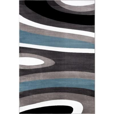 World Rug Gallery Abstract Contemporary Modern Blue 2 ft. x 3 ft. Indoor Area…