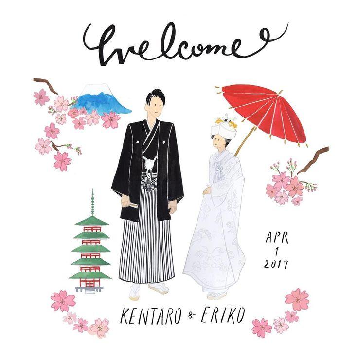 桜の季節にぴったりなウェルカムイラストボードをお描きしました☺︎ オプションで背景にイラストを追加することもできますので、お気軽にご相談ください おめでとうございます 過去の作品は  #cuicui_illustboard   でご覧いただけます    #cuicui_wedding #welcomeboard #welcomespace #illustration#illustrator  #bridal #wedding   #プレ花嫁#花嫁#ウェルカムボード #ウェルカムスペース #イラスト #イラストレーション#新郎新婦#結婚式#結婚準備 #結婚式場 #和装 #和装前撮り #instawedding #席次 #招待状 #invitationcard #invitation #flower #富士山 #桜