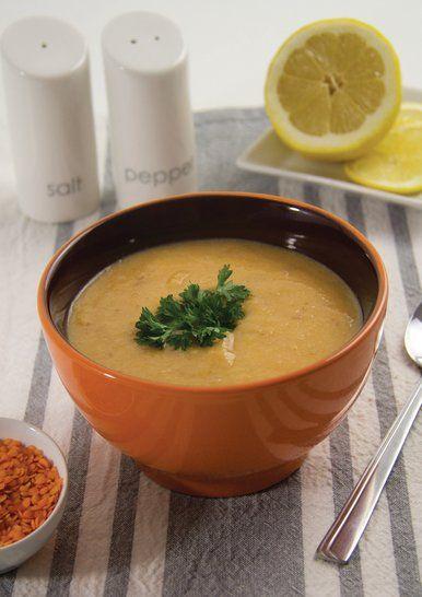 Supă de linte şi usturoi