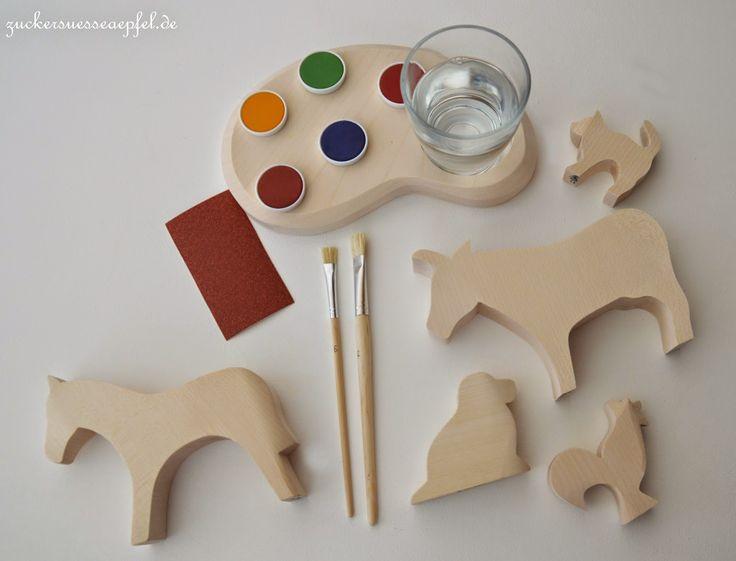 ** Zuckersüße Äpfel **: - Anzeige - Mit Pinsel, Holz und Fantasie...Ostheimer Kreativ Set mit toller Verlosung