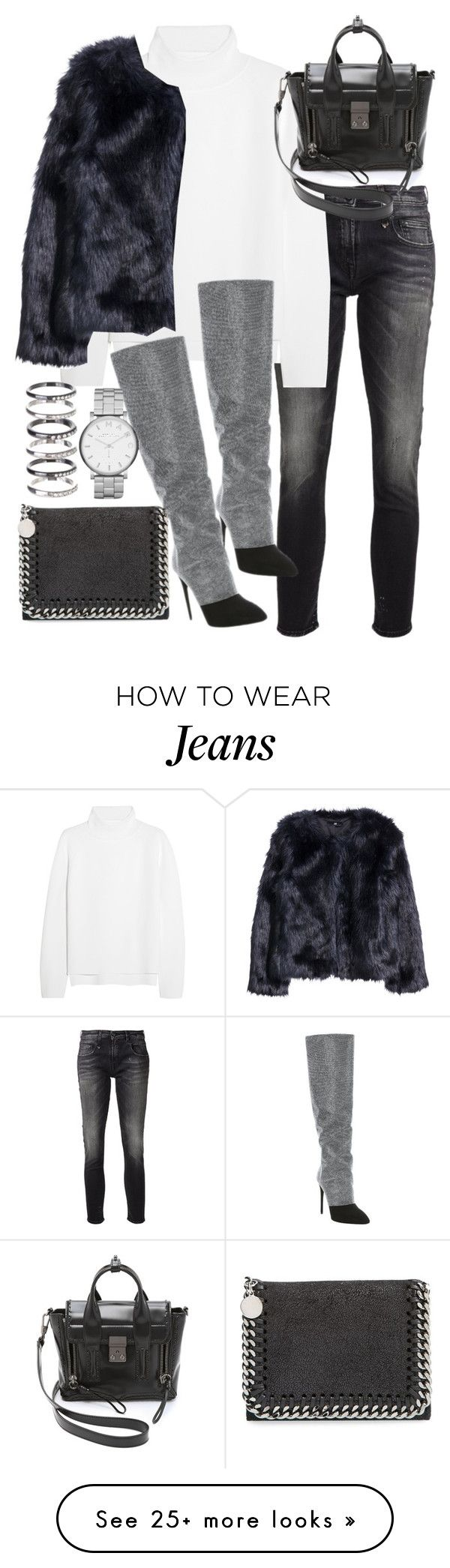 """""""Untitled #19302"""" by florencia95 on Polyvore featuring R13, Vanessa Bruno, 3.1 Phillip Lim, H&M, Giuseppe Zanotti, STELLA McCARTNEY, M.N.G and Marc by Marc Jacobs"""