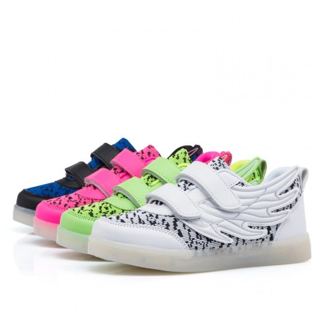 Kids Yeezy Luminous Shoes With Wings