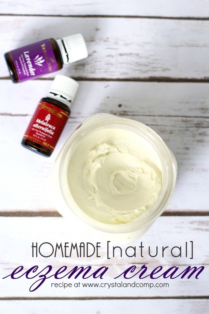 hand made eczema cream, I would leave out the essential oil as 'essential oils' are notorious for increasing inflammation with eczema.                                                                                                                                                                                 More