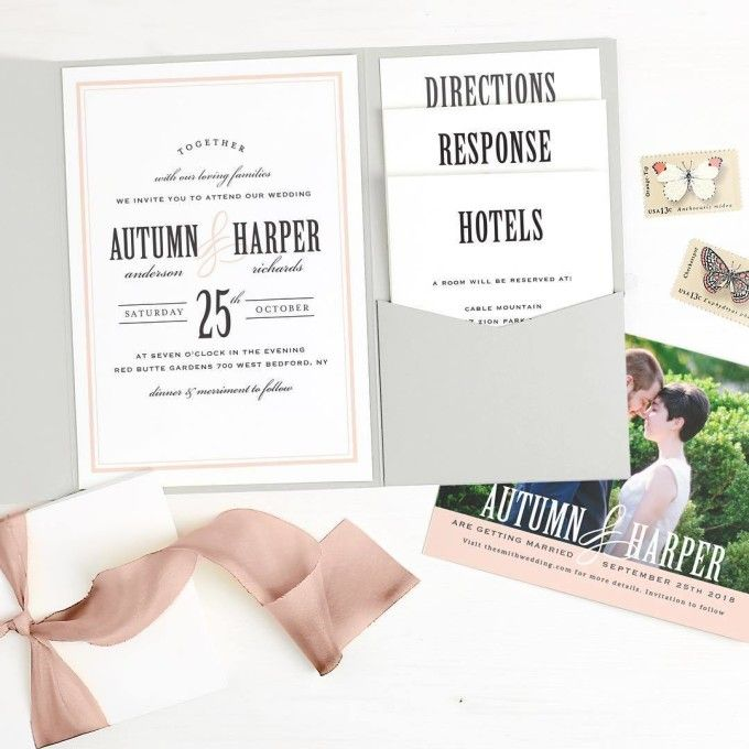 827 best Wedding Invitations images on Pinterest