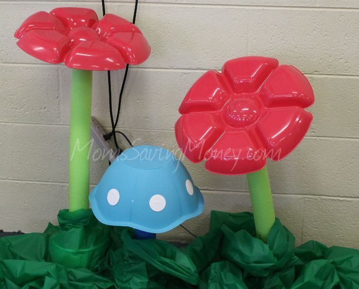 Shady Grove Craft Decoration Ideas - #VBS 2015  DIY Flower Props   Mushrooms