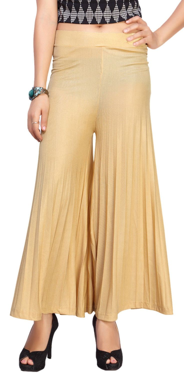 Fancy Imported Cotton Lycra Fabric Solid Women Palazzo Pant 3153