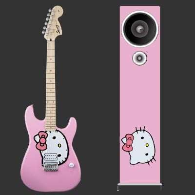 Hello Kitty Stratocaster guitar by Fender engadget.com